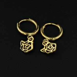 mini créoles rose noire